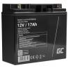 Green Cell® AGM 12V 18Ah VRLA batterij Accu voedingsaccu speelgoed voor kinderen Alarmsystemen