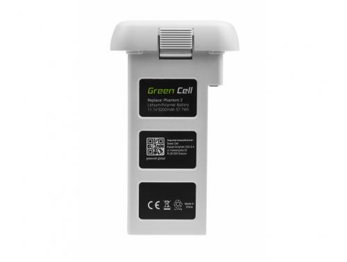 Drone-batterij Green Cell voor DJI PHANTOM 2, DJI PHANTOM VISION 2 5,2Ah 11.1V