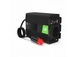 Green Cell ® 150 W / 300 W Spanningsomvormer Omvormer 12V tot 230 V Omvormer USB