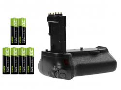 Grip Green Cell BG-E14H voor de Canon EOS 70D 80D camera