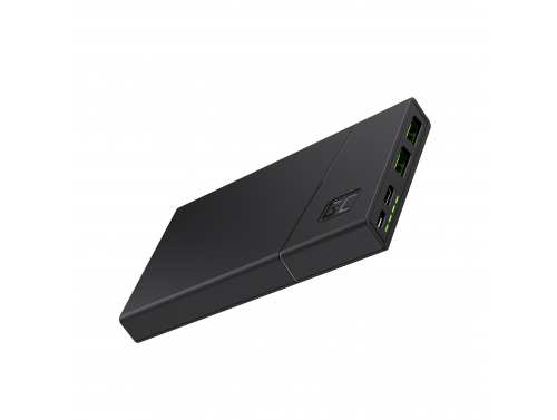 Powerbank Green Cell GC PowerPlay10 10000mAh met snel opladen 2x USB Ultra Charge en USB-C Power Delivery 18W