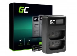 Green Cell ® dubbele oplader LI-50C voor Olympus LI-50B, SZ-15 SZ-16 Tough 6000 8000 TG-810 TG-820 TG-830 TG-850 VR-370 XZ-1