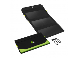 Zonnelader Green Cell GC SolarCharge 21W - Zonnepaneel met 10000 mAh Powerbank Functie USB-C Power Delivery 18W USB-A QC