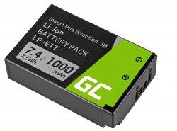 Green Cell ® Akku LP-E17 Half-Decoded für Canon EOS 77D, 750D, 760D, 8000D, M3, M5, M6, Rebel T6i, Rebel T6s 7.2V 1040mAh