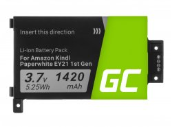 Green Cell ® Akku 58-000008 voor Amazon Kindle Paperwhite I 2012 Ebook-Reader